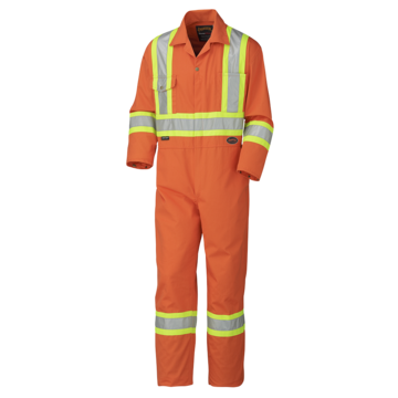 Coverall Orange Pol/cot W/refl 5513
