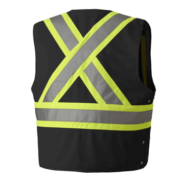 Csa Z96-09 Safety Vest Black L/xl
