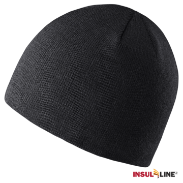 Lined Beanie Black