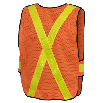 Orange Mesh Vest 5 Pt Tear Away