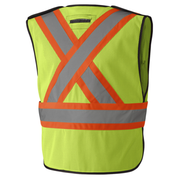 Traffic Vest Hi Viz Yellow With Pockets