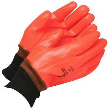 Glove Orange Gander Pvc Dip Knit Wrist
