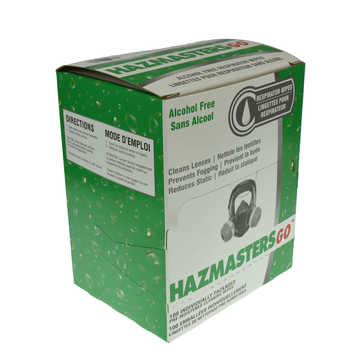 Hazmastergo Respiratory Wipes W/o Alcohol 100/box