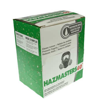 Hazmastersgo Respiratory Wipes W Alcohol 100/box