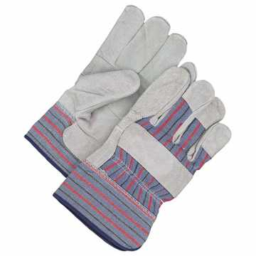 Patch Palm Leather Fitter Glove Grey O/s