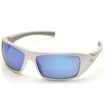 GOLIATH SW5665D BLUE MIRROR LENS WHT FRM, 12/ BOX