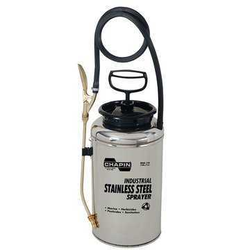 Handheld Sprayer, Open Head, 2 gal Tank, Stainless Steel Tank, 0.4 to 0.5 gpm, 4 in Fill Opening