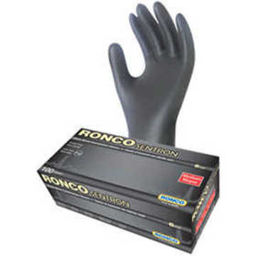 BLACK NITRILE EXAMINATION GLOVES, LRG, POWDER FREE, 6 MIL