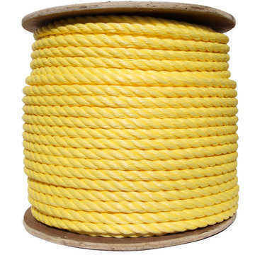 TWISTED POLYPRO YELLOW ROPE 3/8 X 250