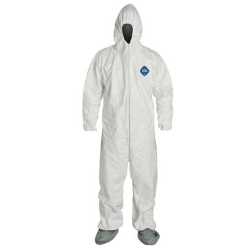 Coverall Mm-ns/ss 1414 Style 4x W/ Boot, W/ Hood, Elastic Wrists, Ankles And Boot Cover
