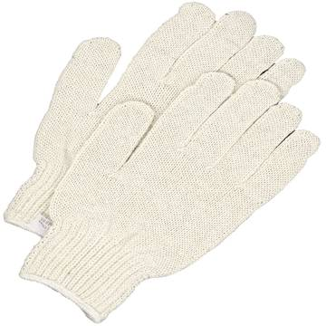 Seamless Knit Poly-cotton String Knit Glove Natural