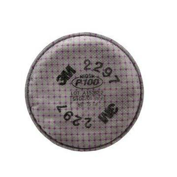 3m™ Advanced Particulate Filter, 2297, P100, With Nuisance Level Organic Vapour Relief, 50 Pairs/case