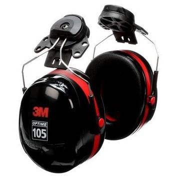 3m™ Peltor™ Optime™ 105 Earmuffs, H10p3e, Hard Hat Attached