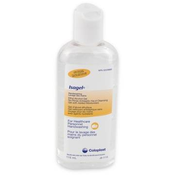 Coloplast 1644 Isagel Antiseptic No-rinse Hand Cleansing Gel 4oz (115ml)