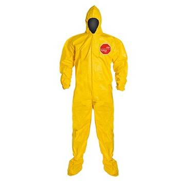 Dupont™ Tychem® 2000 Qc122byl Coverall: Yellow,  3x-large, 12/case