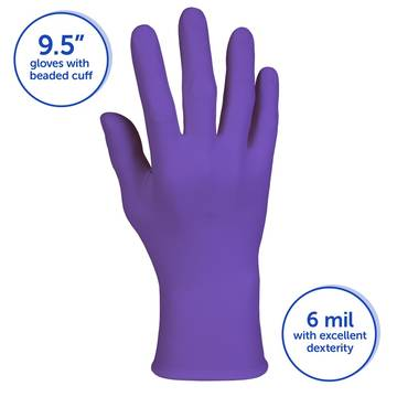 Disp Glove Nitrile Xl Purple Pf (10 Boxes/ Case)