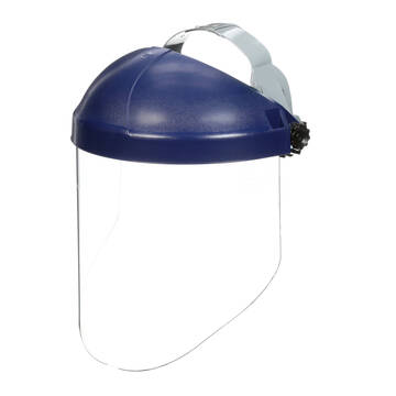 Ratchet Headgear with Clear Polycarbonate Faceshield Head and Face Protection