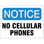 Cell Phone Usage Safety Signs