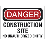 Construction & Job Site Safety Signs