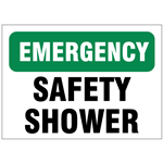 Emergency Shower Safety Signs