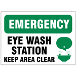 Eye Wash Safety Signs