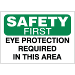 Eye & Face Protection Safety Signs
