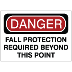 Fall Protection Safety Signs