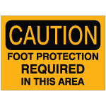 Foot Protection Safety Signs