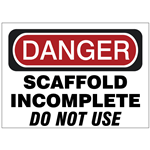 Scaffold Safety Signs