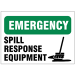 Spill Response Safety Signs